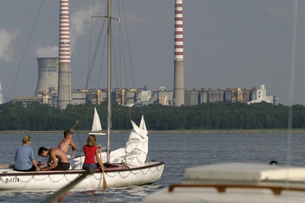 Rybnik - zalew przy elektrowni. Niezamarzający ponoć zimą. Fot.: Pan Andrzej Wawok / PTWP