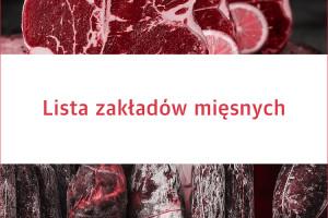 Lista zakładów mięsnych - edycja 2020